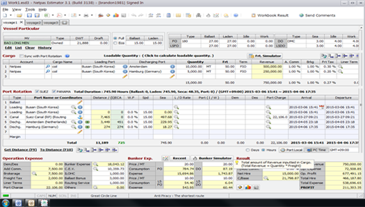 Netpas Estimator ScreenShot